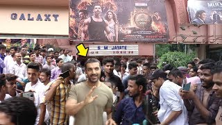 John Abraham Suddenly Arrives At Gaiety Galaxy Theater To Know FANS Reaction/Review Satyamev Jayate