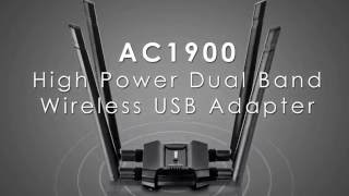 TRENDnet AC1900 High Power Dual Band Wireless USB Adapter - TEW-809UB