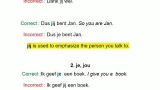 JE  or JIJ  learn Dutch Flemish