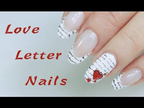 love letter nails nail art san valentino 2016 1 youtube