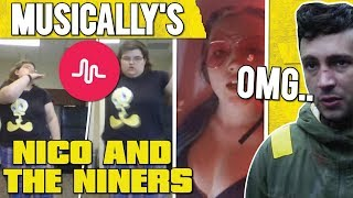 The FUNNIEST NICO AND THE NINERS MUSICAL.LY'S ! CRINGE COMPILATION (weird..)