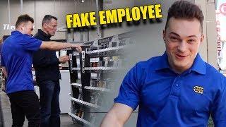 Making Customers Feel Uncomfortable PRANK (FAKE EMPLOYEE)