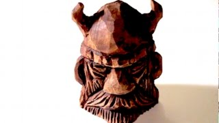 Viking Wood Spirit!! Full Carving And Finish Treatment