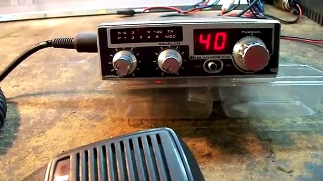 Schemi Elettrici Radio Cb : Midland  canali apparato cb vintage youtube