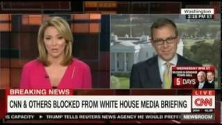 NY Times, LA Times, Politico and CNN  blocked from a White House Media gaggle or Briefing