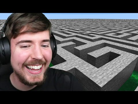 I Made 100 Players Escape An Impossible Maze! - MrBeast Gaming