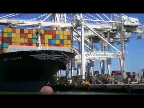Bay Area Container Ship Spotting - MSC Flavia up close at Port of Oakland  June 19, 2013