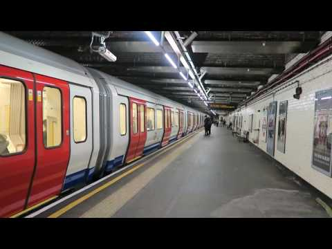 London Underground D & S Stock Trains At Stepney Green 29 November 2016