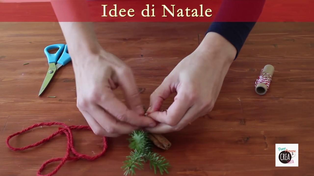 Segnaposto Natalizi Con Bastoncini Di Cannella.Decorazione Natale Con Cannella E Rametto