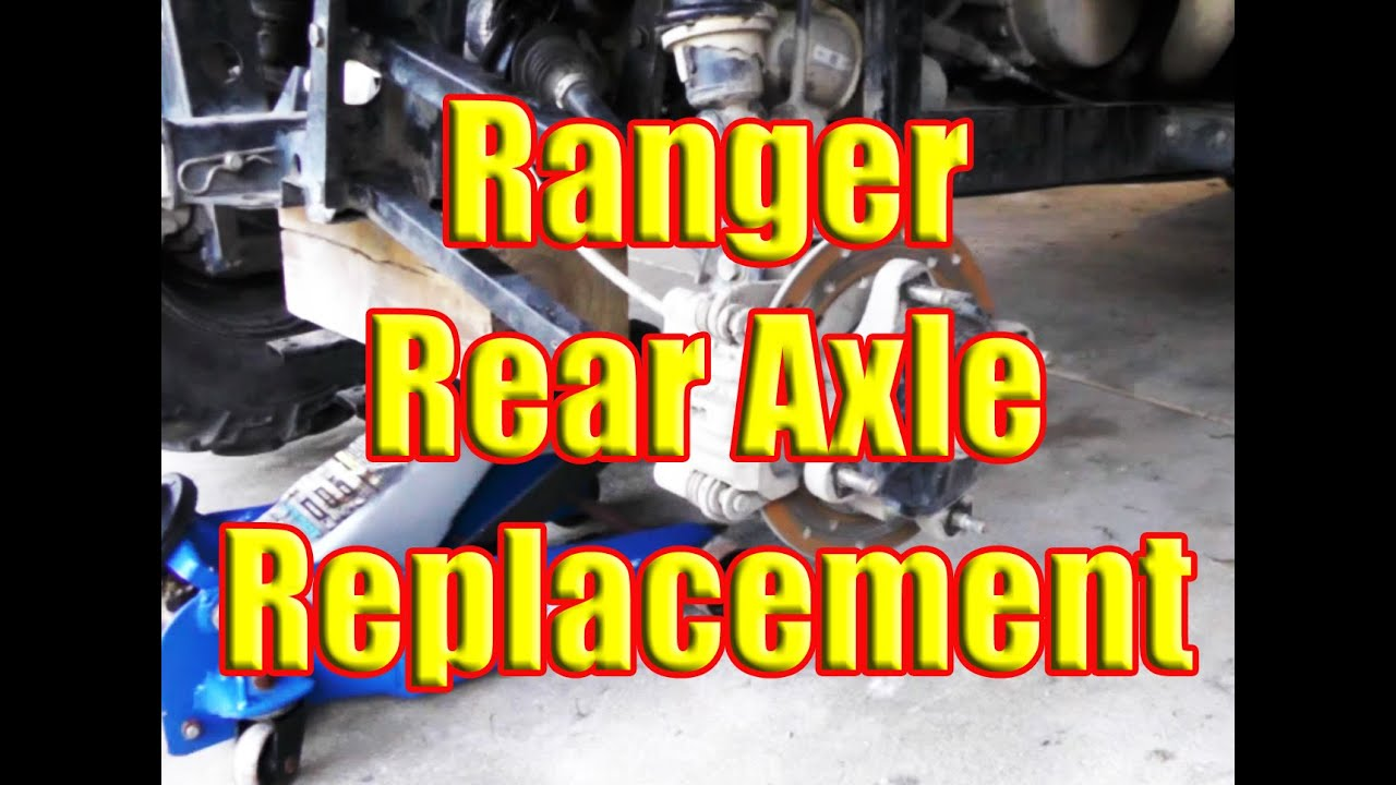 Polaris Ranger: Rear Axle Change and How to Remove if STUCK SEIZED in rear  end