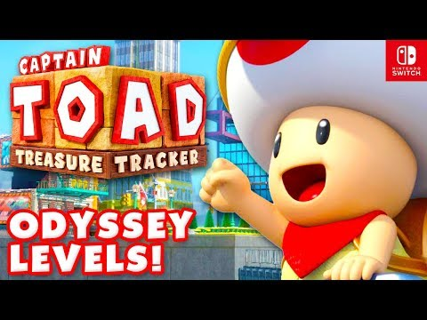 Captain Toad: Treasure Tracker - All Super Mario Odyssey Levels 100% Gameplay Nintendo Switch