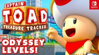 Captain Toad: Treasure Tracker - All Super Mario Odyssey Levels 100% Gameplay! (Nintendo Switch)