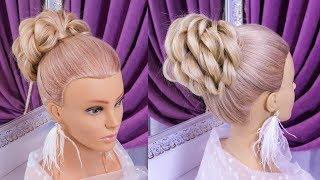 Прически.Красивая Прическа.Обучающее видео.Beautiful Hairstyles