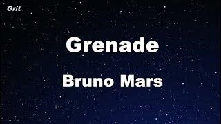 Karaoke♬ Grenade - Bruno Mars 【No Guide Melody】 Instrumental