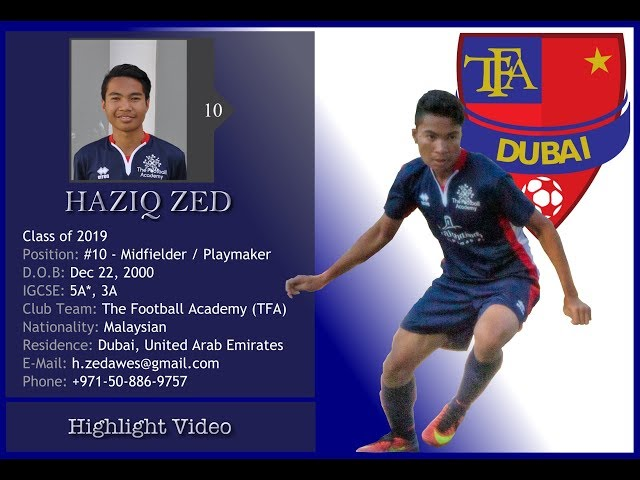 Haziq Zed Soccer Highlights