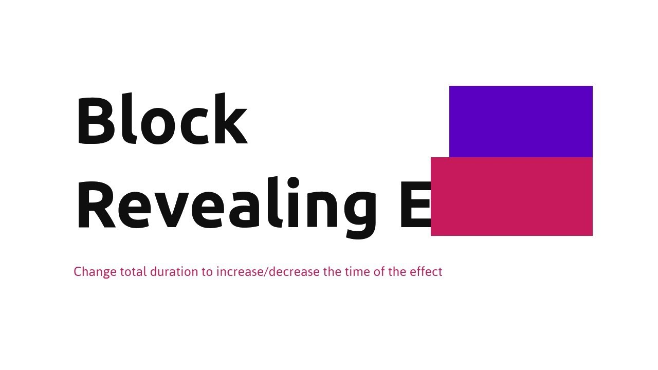 Reveal Effect:Text Reveal Animation Effect CSS | CSS text Reveal effect