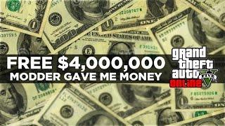 GTA 5 ONLINE FREE $4,000,000 Money Glitch by a Modder!? (GTA 5 Glitches)