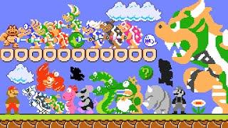 Super Mario Bros. 1 - All New Bosses (SM4J). ᴴᴰ