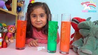 Experimento LÁMPARA DE LAVA ✨ Experimentos fáciles para niños 👧 Jugando con Vicky