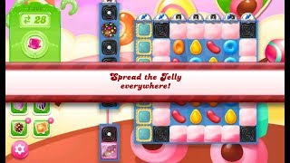 Candy Crush Jelly Saga Level 1366 (3 stars, No boosters)