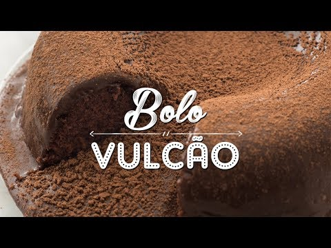 BOLO DE CHOCOLATE SIMPLES VULCÃO