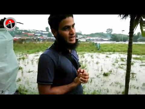 Rohingya camps in Zero Line by monsoon heavy rain water, refugees are facing difficulty to live
