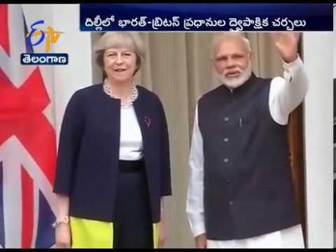PM Narendra Modi Meets His British Counterpart Theresa May at Hyderabad House