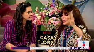 Entrevista a Verónica Castro por la nueva serie La casa de las flores | Noticias con Yuriria Sierra