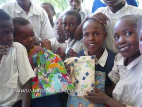 A Gift of School Bags for the Children of Tanzania (Hearts i