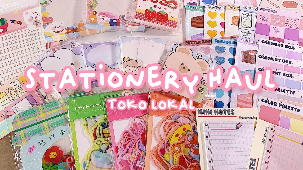 •. Stationery Haul Toko Lokal! Sticker Sheets, Sticker Flakes, Memopad .•