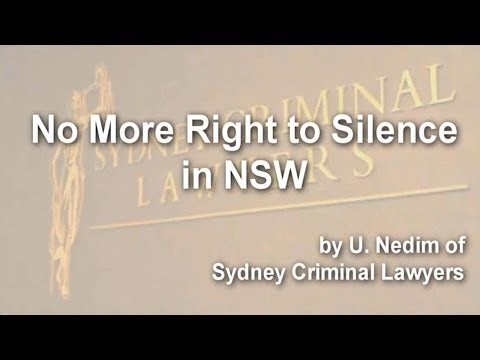 No More Right to Silence in NSW