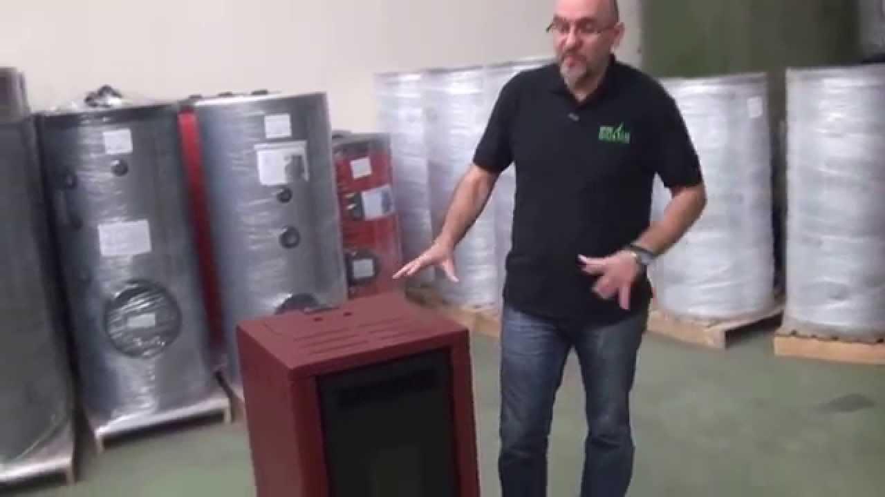 Estufas de pellets minerva f60 grupo biosan youtube for Fabricantes de estufas de pellets