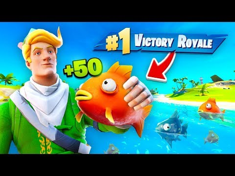 LITERALLY ONLY EATING FISH TO WIN (Challenge)