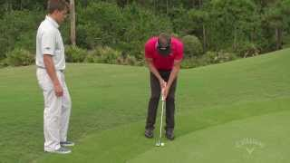 How to  Putt Against The Fringe, with Stuart Appleby - Callaway Office Golf Tips