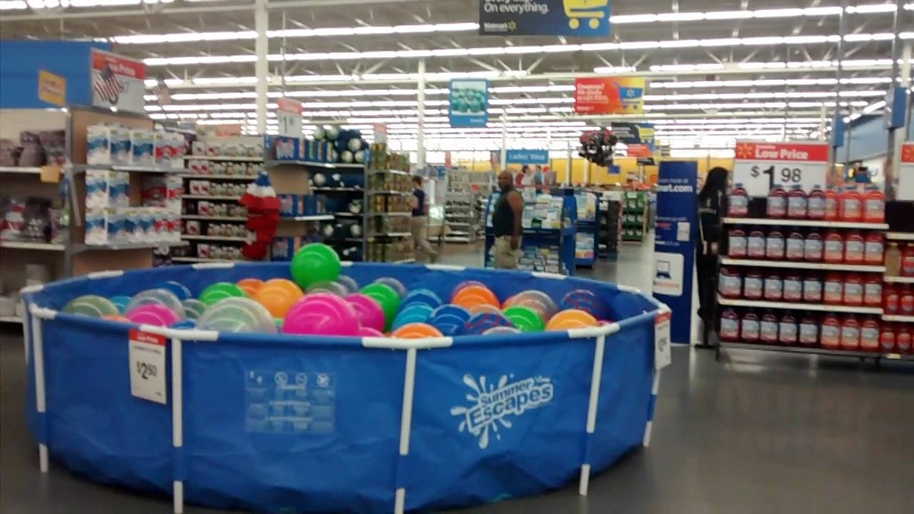 Dad Jumps In Pool Of Balls At Walmart Youtube