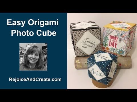 Easy Origami Photo Cube Tutorial
