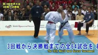 The 10th World Open Karate Tournament.