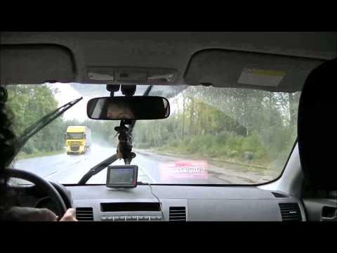 Поездка из Клина в Москву в дождливую погоду часть 1