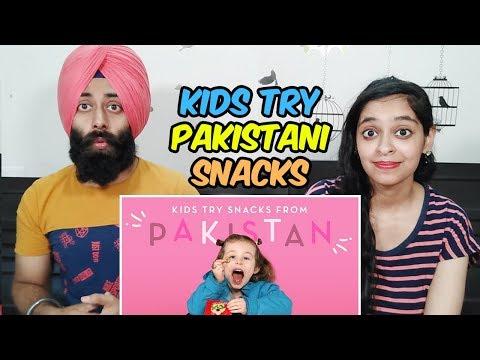 Indian Reaction On Kids Try Pakistani Snacks | HiHo Kids | PunjabiReel TV