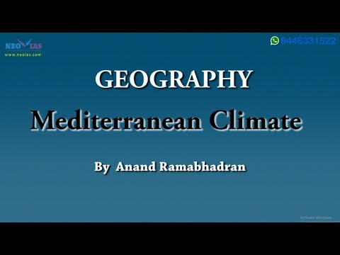 Mediterranean Climate | Climatology | Geography | NEO IAS