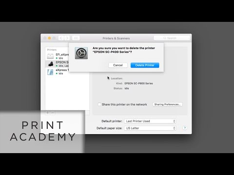How To Uninstall Old Printer Drivers From A Mac | Tutorial