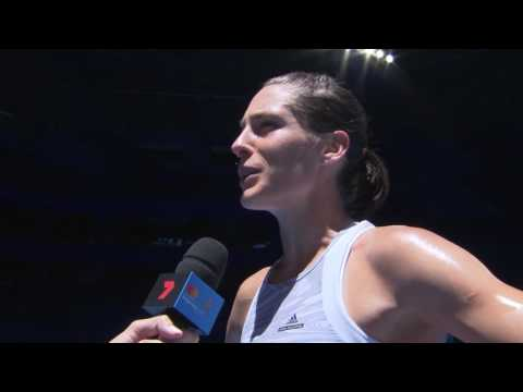 Andrea Petkovic on-court interview (RR) - MasterCard Hopman Cup 2017