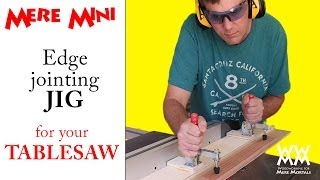 Jig for edge jointing on a table saw | Mere Mini shop project Thumbnail