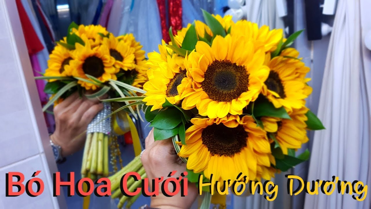 Tự làm hoa cưới đẹp - rực rỡ bó Hoa Cưới HOA HƯỚNG DƯƠNG ...