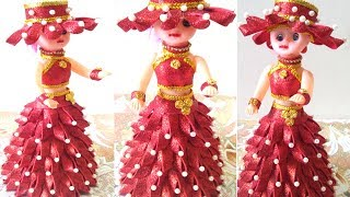 How to Decorative Doll Using Foam Sheet/DIY Doll Decorations/Decorative Dolls/DIY Doll Indian Style