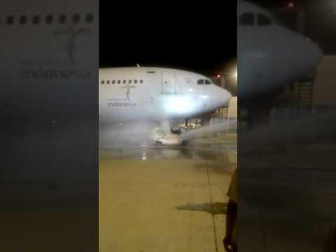 Pesawat Garuda Indonesia Nyaris Terbakar di Terminal 3 Bandara Soetta