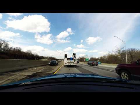 GoPro Dashcam - Single Car 180 Degree Turnaround Accident