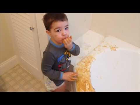 =Kids Create A Peanut Butter Mess