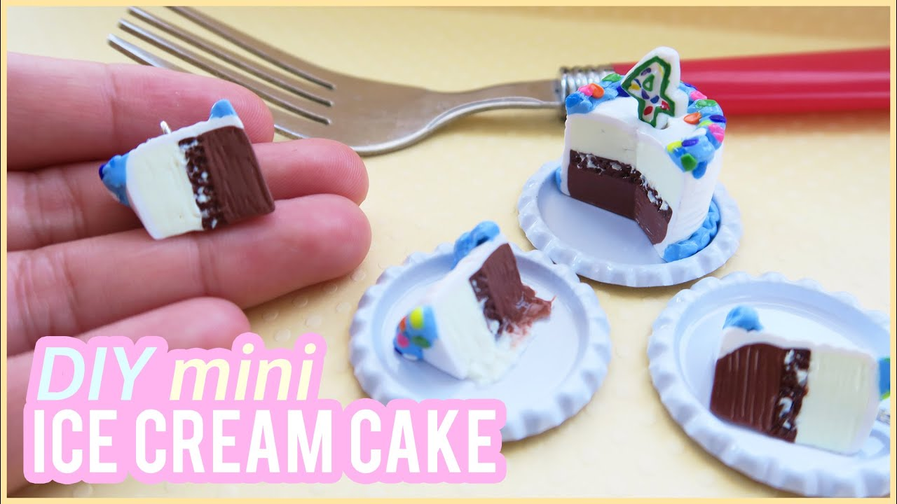 Tutorial diy mini ice cream cake polymer clay charm youtube ccuart Gallery