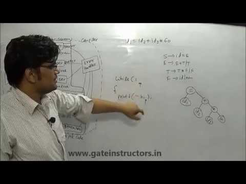 Compiler Design Lecture: Syntax Analysis, Various phases of Compiler | 14